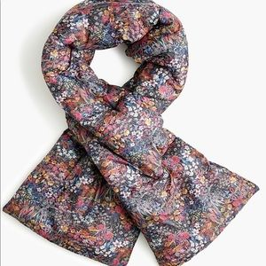 J. Crew puffer scarf- liberty floral print